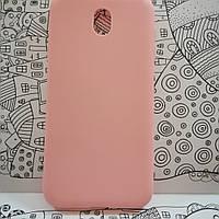 Силиконовый чехол на Samsung J7 2017 J730H розовый