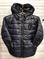 Куртка на девочку р.116-140, чернильный