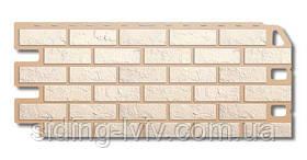Фасадні панелі «Цегла біла» Альта Профіль цокольний сайдинг