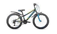 "Велосипед Intenzo Energy V-brake 24"" черно-зелено-синий"
