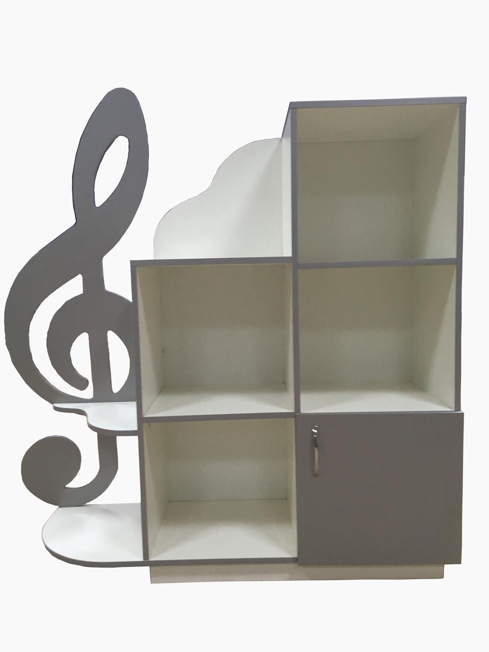 """Шкаф стеллаж """" Музыкальный уголок """""""