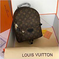 Рюкзак Луи Витон Louis Vuitton Monogram натуральная кожа целиком, медиум, Люкс копия