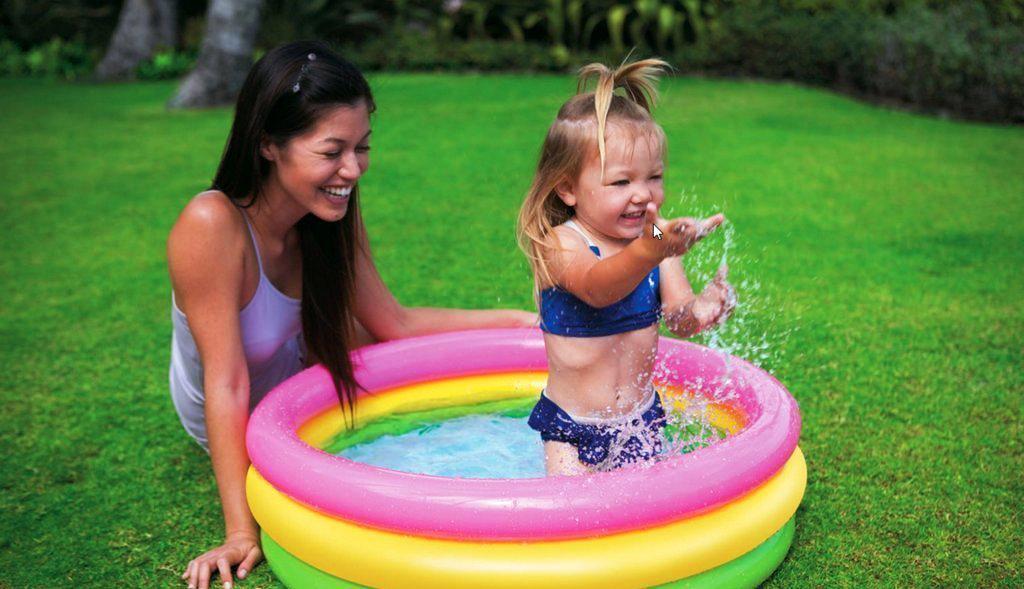 Детский надувной бассейн Intex 58924 Радуга 86 х 25 см