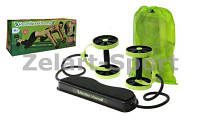 Revoflex Xtreme Колесо для пресса (ролик для пресса) многоканальное FI-4379 (4 колеса d-12см,l-70cм) |салат/ч