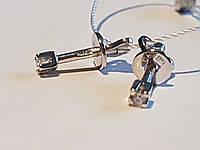 Золоті сережки-пуссети з фіанітом. Артикул СП128БИ, фото 1