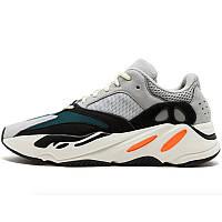 Кроссовки мужские Adidas Yeezy Boost 700 Solid (серые-черные-синие-белые) Top replic