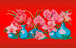 Схема для вишивки та вишивання бісером Бисерок «Ніжна орхідея» (30x50) (П-108(10))
