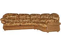 Современный угловой диван с реклайнером - Орландо, коричневый (308*206см)