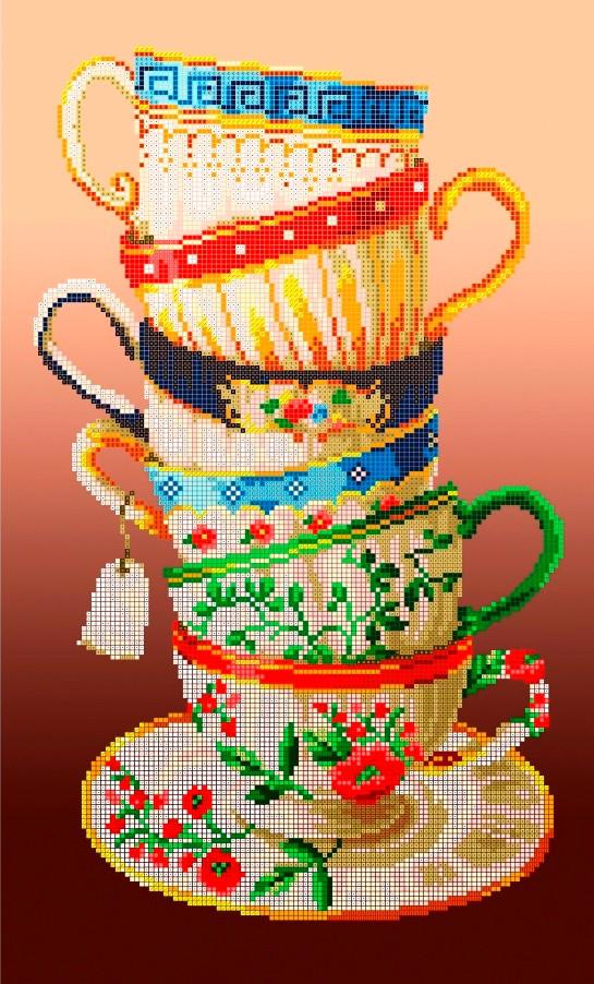 Схема для вишивки та вишивання бісером Бисерок «Чаювання» (30x50) (П-105(10))
