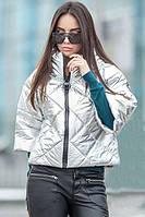 Красивая  демисезонная  куртка  Modena  серебро (42-50)