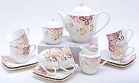Сервиз чайный фарфоровый подарочный на 6 персон