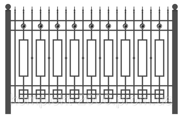 Секционное ограждение из металла - фото 2