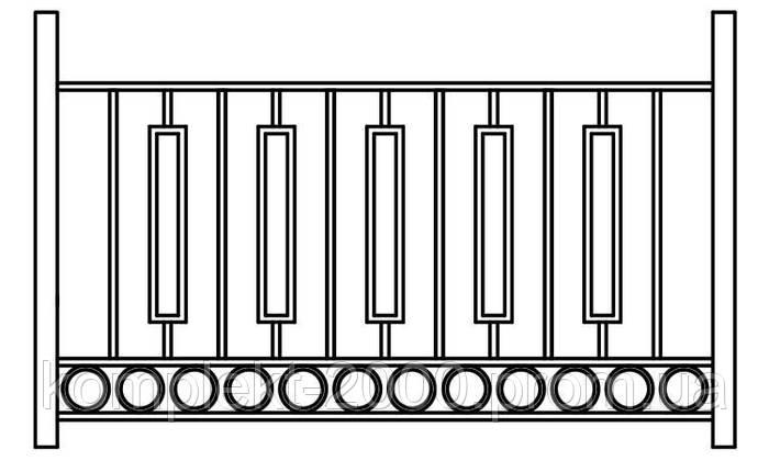 Секционное ограждение из металла - фото 4