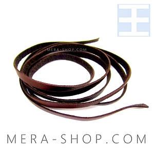 Коричневая кожаная лента шнурок для кулона
