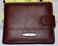 Мужской каштановый кошелек из натуральной кожи Tailian 11,5*9,5 см, фото 1
