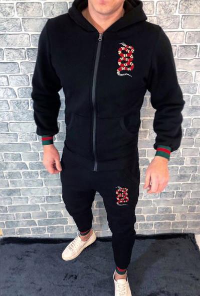 238beb7cc905 Спортивный костюм GUCCI D2752 черный с капюшоном - купить по лучшей ...