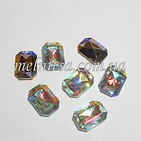 Камень-кристалл под оправу, прямоугольный, 18 х 13 мм, цвет хамелеон