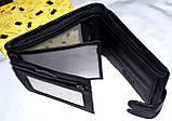 Мужской черный кошелек из натуральной кожи Tailian, фото 5