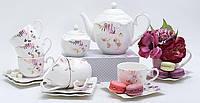 Сервиз чайный фарфоровый праздничный на 6 персон
