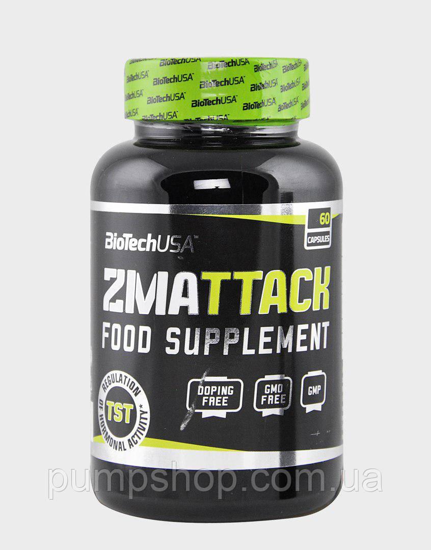 Цинк + магний + витамин B6 BioTech USA ZMAttack 60 таб.