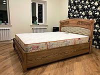 Кровать двуспальная с элементами резьбы