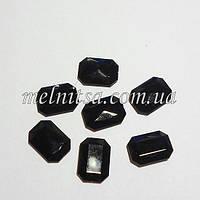 Камень-кристалл под оправу, прямоугольный, 18 х 13 мм, цвет черный