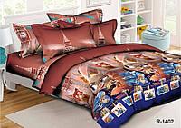 Полуторный комплект постельного белья 145х215 из ранфорса Зверополис (1.0) (70х70)