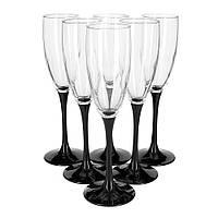 Бокалы для шампанского 170мл-6шт  Domino Luminarc H8167