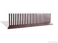 Гребень свеса плоский 60х1000 мм, цвет коричневый Wabis Польша