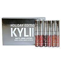 Жидкая матовая помада KYLIE Holiday Edition набор 6 шт Кайли