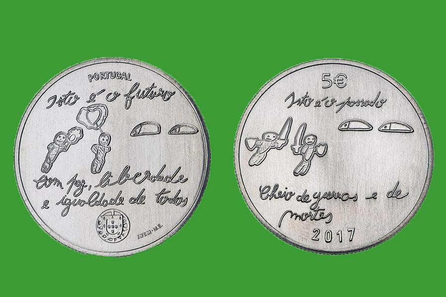 Португалия 5 евро 2017 г. Будущее , UNC