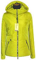 Весенняя куртка женская ЛД 65 лимонный 42
