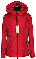 Весенняя куртка женская ЛД 65 красный 52