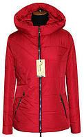Весенняя куртка женская ЛД 65 красный 44