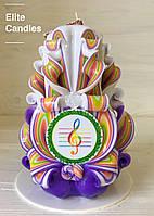 Красивая  резная свеча для подарка учителю музыки