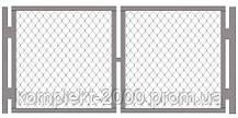 Ворота металлические из сетки рабица