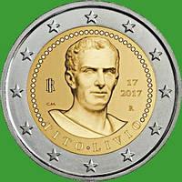 Италия 2 евро 2017 г. 2000 лет со дня смерти Тита Ливия . UNC