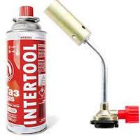 Горелка газовая с пьезорозжигом Intertool