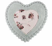 Коврик для ванной Irya Essa Heart 70*70 голубой