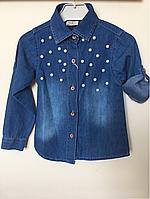 Детская джинсовая рубашка для девочки