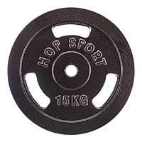 Диск чугунный Hop-Sport Strong 15 кг