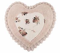Коврик для ванной Irya Essa Heart 70*70 розовый
