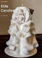 Ангельская свеча, белого цвета на подарок