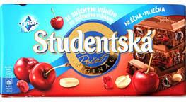 Шоколад Studentska 180гр. вишня орех