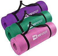 Коврик-мат для йоги и фитнеса «Hop-Sport» (NBR) 1730x610x15мм