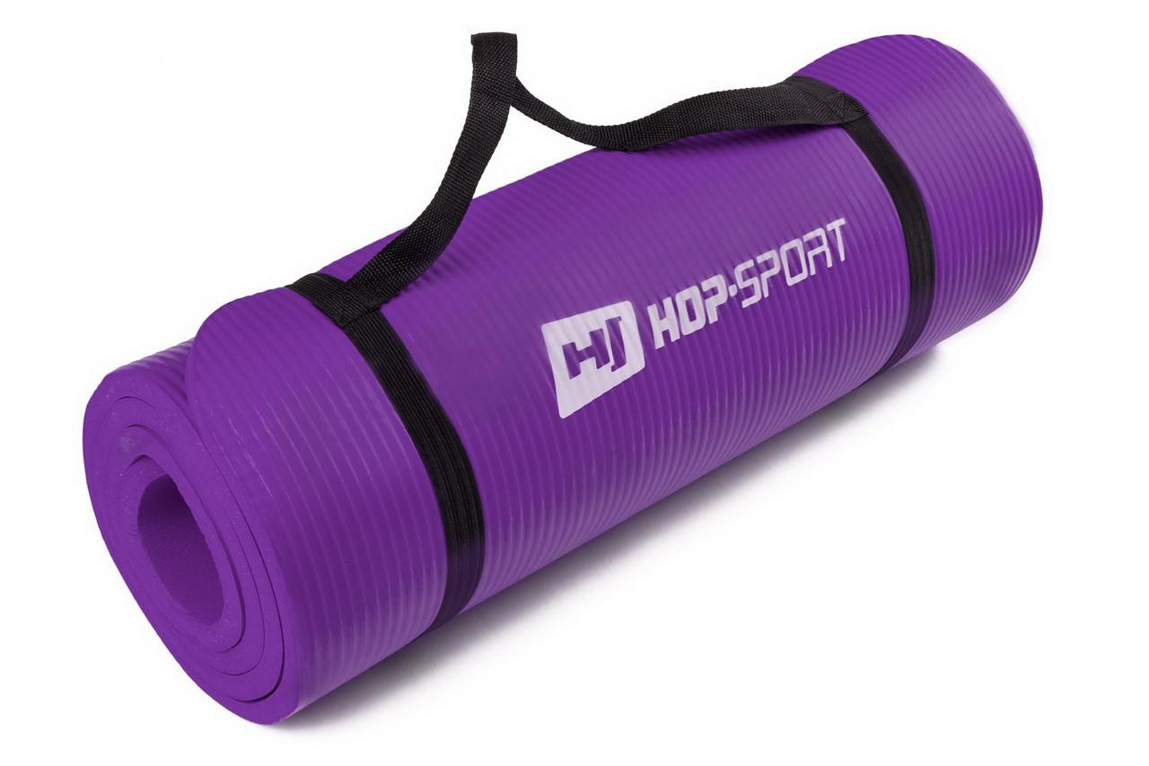 Коврик-мат для йоги и фитнеса «Hop-Sport» (NBR) 1730x610x15 мм
