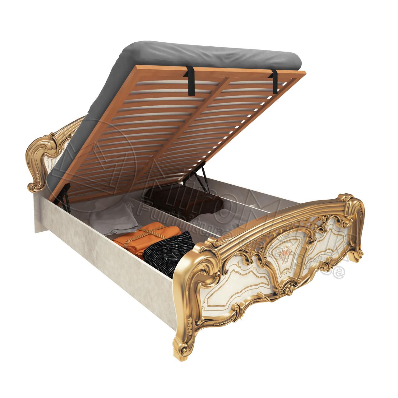 Кровать  «Реджина голд»  1,6 с подъемником. Миро Марк.