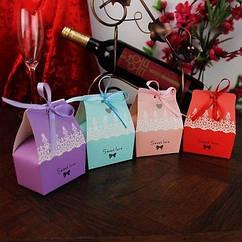 Бонбоньерки, подарки для гостей 9х7х5 см.
