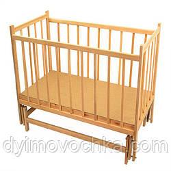 Детская кровать №7, деревянная, маятник