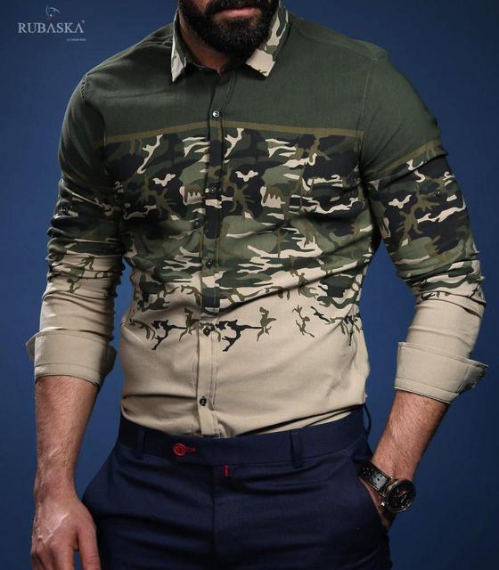 Модная мужская рубашка оригинальной расцветки